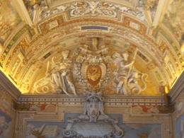 Heading toward the Sistine Chapel. I think this was the Hall of Tapestries , Junior1962 - June 2012