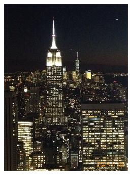 Photo of   View of Empire State at night