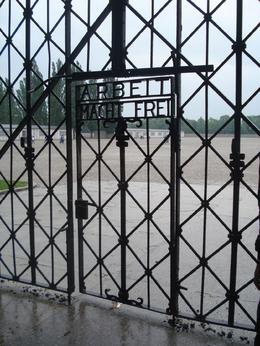 A very cruel sign when you consider the horror that realize took place behind the gate. Prisoners were worked to death., David F - June 2010