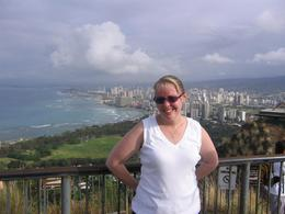 Looking over Waikiki Beach at the top., Fiona H - June 2008