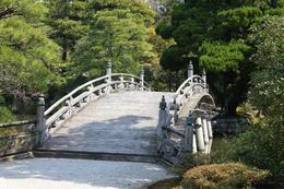 Bridge over the lake at the Kyoto Imperial Palace. , Spinmeout - April 2014