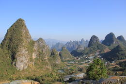 Yangshuo has a lot of beautiful karst mountains - May 2012