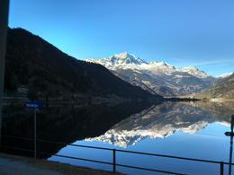 Photo of Milan Swiss Alps Bernina Express Rail Tour from Milan Espelho no lago