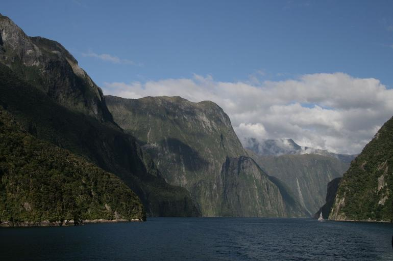 Evening cruise - looking into Sound - Fiordland & Milford Sound