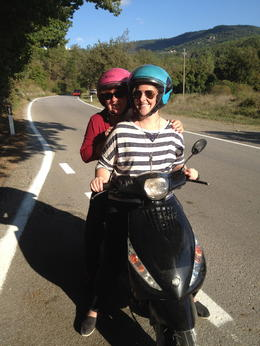 Photo of Florence Vespa Small Group Day Trip to the Chianti Wine Region mom and daughter bonding ride!