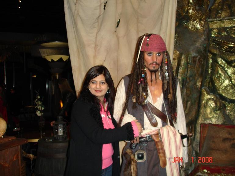 My wife with pirate - Las Vegas