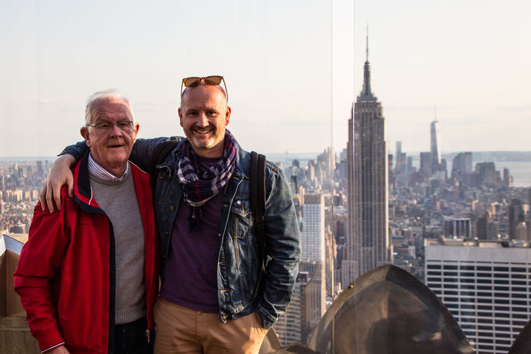 Me and Dad in the Rockefeller Center