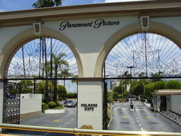Riding past the Melrose entrance to Paramount Studios. Several studios are in this area as well as some wonderful antique shops. , Patricia L - May 2011