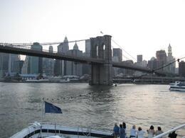 Photo of New York City New York Dinner Cruise Passing Under the Brooklyn Bridge