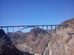 Photo of Las Vegas Ultimate Hoover Dam Tour Standing on the Dam at the bridge
