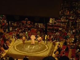 Photo of Tokyo Tokyo Sumo Wrestling Tournament Start of match with Referee