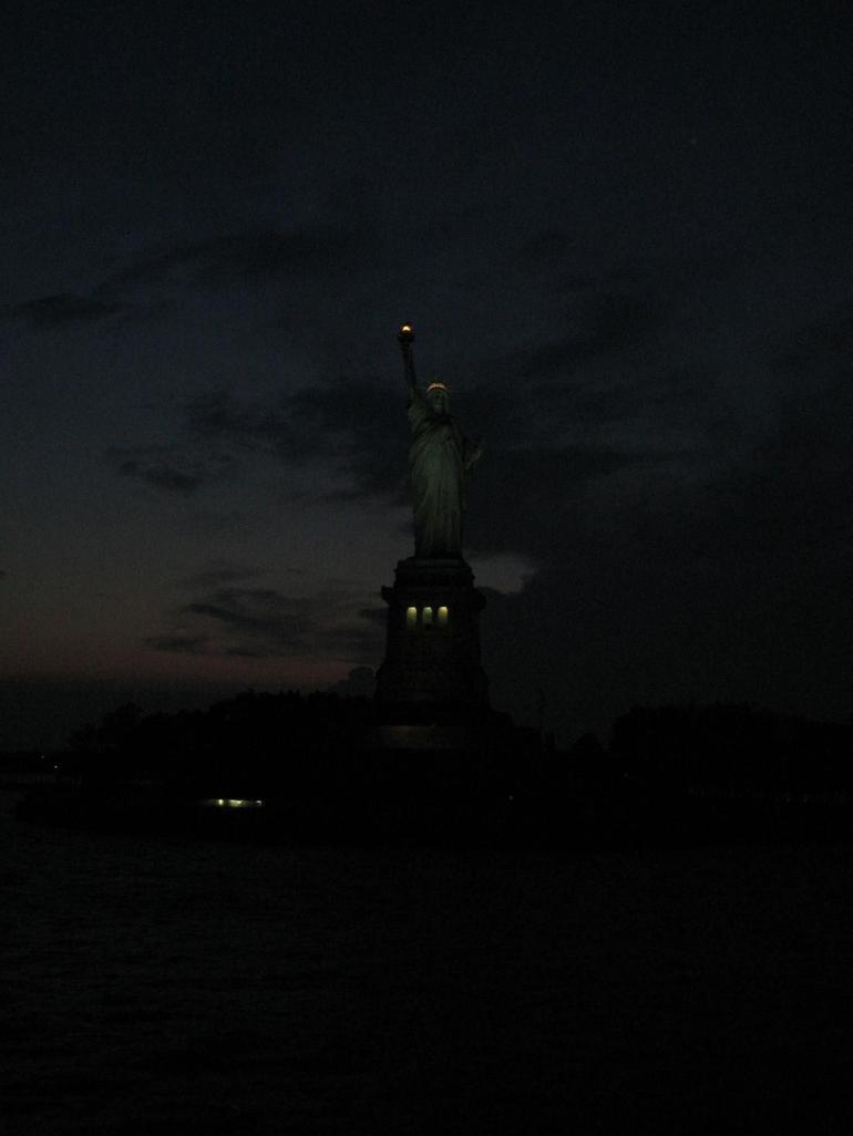 A Night view of the Statue of Liberty - New York City