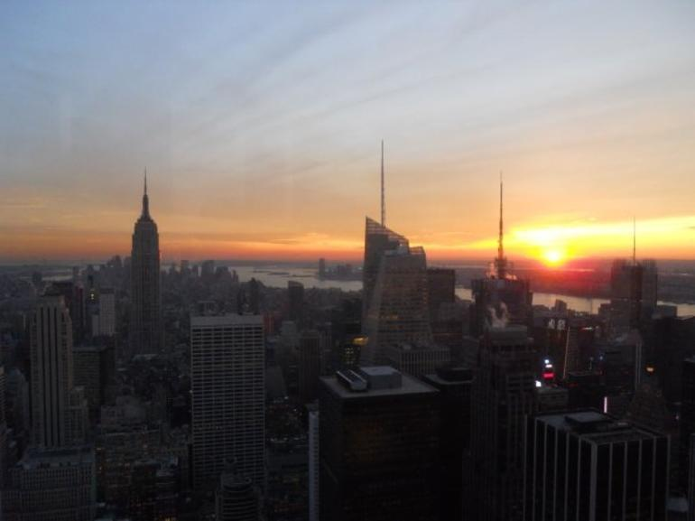 Beautiful sunset - New York City