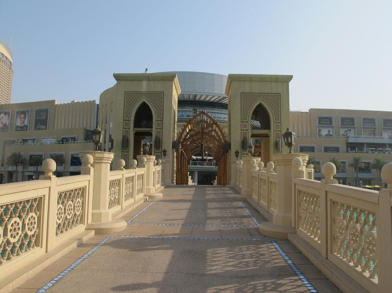 Bridge outside Souk El Bahor - Dubai