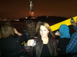 A champagne cruise around the statue was the perfect way to cap a memorable evening, Marky M - October 2012