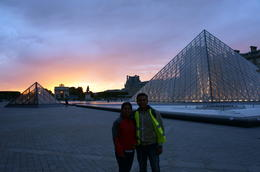 Amazing sunset at the Louvre. On bike tour. , anurag b - June 2012