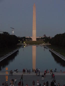 Taken of the Washington Monument from the Lincoln Memorial , Janice M - June 2014