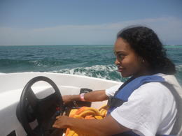 Photo of Cancun Jungle Speed Boat Tour from Cancun me driving