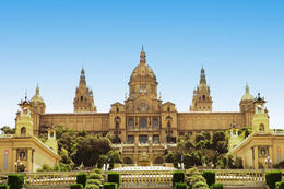 View of the Montjuïc palace, in Barcelona. - May 2011