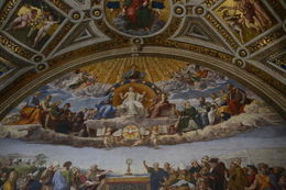 This mural depicts Jesus and the 12 Apostles assembled in heaven, as Constantine and others are assembled at an earthly altar. , EhViator - September 2015