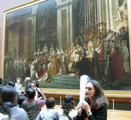 The guide describes a painting of Napolean crowning his wife, the empress, Albert R - November 2009