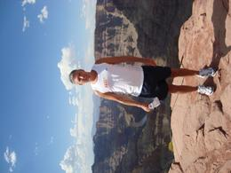 It's a long way down if you get too close to the edge , Photo at the edge of the West Rim, RICHARD L - September 2010