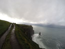 Walking on the Cliffs of Moher was absolutely stunning, even with the clouds! , Haley R - November 2015