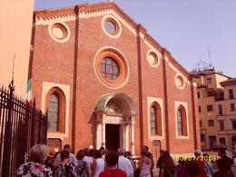 Front of convent (entrance to cenacolo is on left)., ALEX F - August 2008