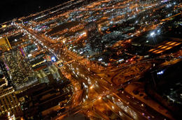 Photo of Las Vegas Las Vegas Strip Night Flight by Helicopter with Transport Flying Over Las Vegas.