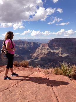 Enjoying the peace that comes to you looking out toward the Grand Canyon., Stephy - September 2014