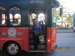 Photo of Boston Boston Hop-on Hop-off Trolley Tour me on the orange/green Hop-on Hop-off tour bus