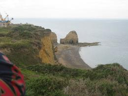 Pont du Hoc - Distance shot - under repair to augment the crumbling cliffs, William F - July 2010
