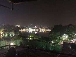 Last stop of the Hanoi foods street walking tour at the roof top bar. , Benjamin C J - April 2015