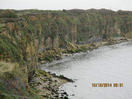 Photo of   The cliffs at Point Du Hoc which American Rangers scaled.