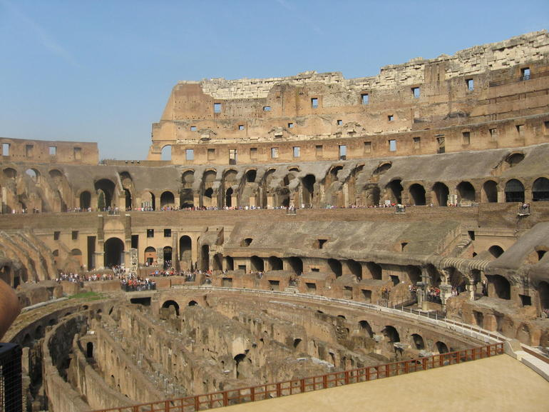 The Interior of the Colosseum - Rome