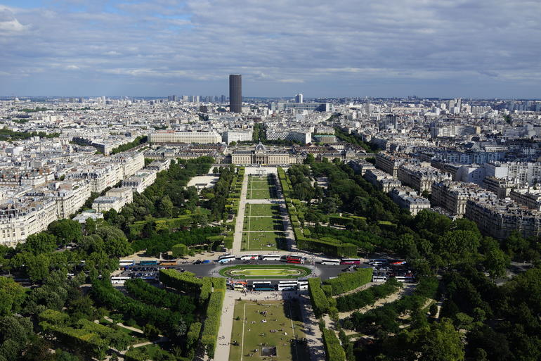 View from the Eiffel.... - Paris