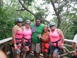 Photo of Roatan Roatan Shore Excursion: Zip 'n' Dip Canopy Tour wife and her friends