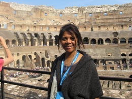 In the foto is myself, Carol G., with the interior of the Colosseum in the background. , Carol G - October 2011