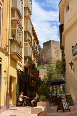 Photo of   Cafe with Alcazaba in background