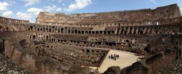 The interior of the Coliseum taken on the tour. , Carol Y - March 2015