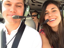 In the helicopter, Alex - June 2014