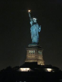 Photo of New York City New York Dinner Cruise Lady Liberty up close