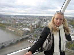 London eye from upstairs...you can see a spectacular view of Westminster :-), Croatiagirl - November 2010