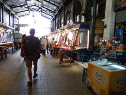 We got to walk through the meat and fish market in town. , James M - September 2014