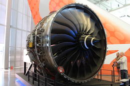 Photo of Seattle Morning Tour of Boeing Factory from Seattle one engine on display.