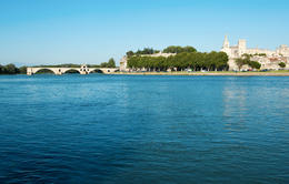 Photo of Avignon Private Provence Tour: Rhone River Cruise and La Camargue Rhone River cruise: Pont Saint-Benezet