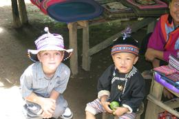 Photo of Chiang Mai Chiang Dao Elephant Jungle Trek and Ping River Rafting Tour from Chiang Mai Zach makes a friend