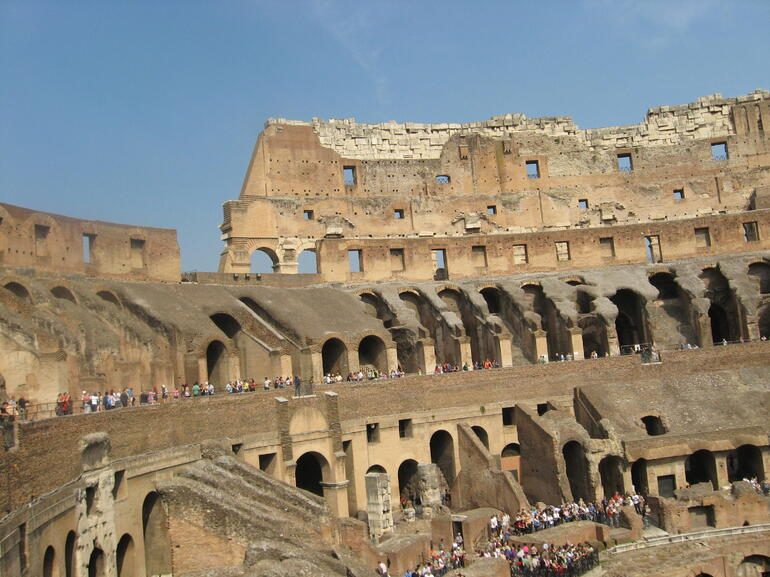 A View of the Left Wall of the Colosseum - Rome