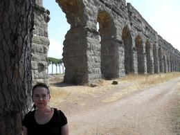 Julie Ann at the ancient aqueducts outside of Rome - September 2009