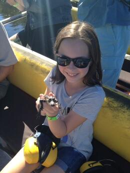 Look who joined us on our Airboat Trip! , Jessie W - October 2014